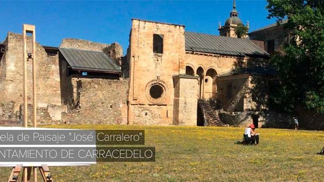 El entorno del Monasterio de Carracedo es el paisaje escogido para el curso de pintura José Carralero