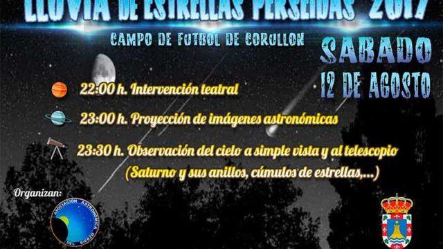 Encuentro en Corullón este sábado para observar las Perseidas
