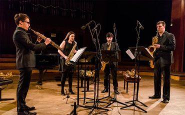 Spectre Quartet, un cuarteto internacional de saxofones con el ponferradino David Delgado en Corteza de Encina