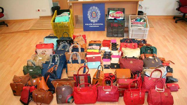 Incautadas en el Mercadillo prendas y artículos pirateados