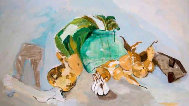 Dosmilvacas expone los cuadros de 7 artistas que participaron en el taller Cian-Fabero