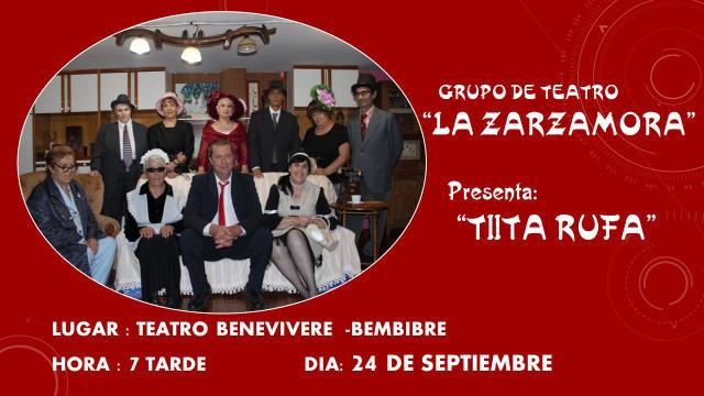 """La Zarzamora presenta en el Benevivere """"Tiíta Rufa"""""""