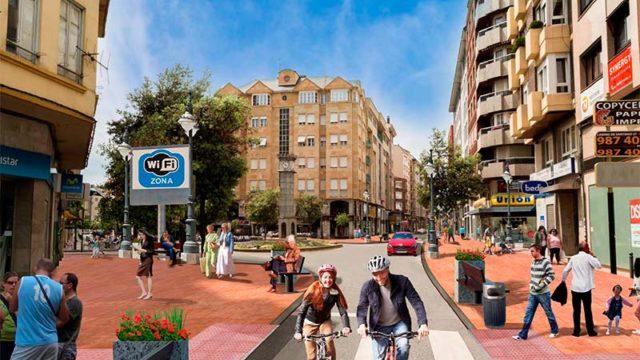 El centro comercial de Ponferrada se revitaliza con una inversión de 3,5 millones en actuaciones urbanísticas