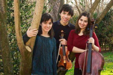 Concierto del trío Ayren de violín, chelo y piano en el auditorio del Conservatorio Cristóbal Halffter
