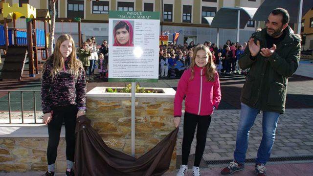 A petición del CRA de Cubillos el Ayuntamiento dedica un parque a Malala Makai