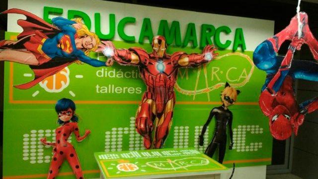 Fiesta de 'Super héroes y heroínas' en el MARCA