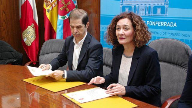 Ayuntamiento y Confederación firman el convenio para la construcción de la senda fluvial junto al Sil