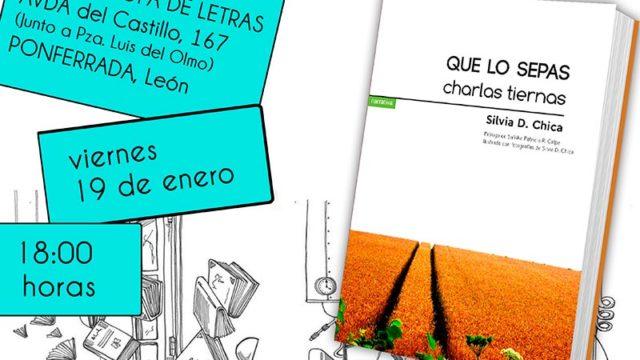 Silvia Chica presenta en Ponferrada el libro 'Que los sepas, charlas tiernas'
