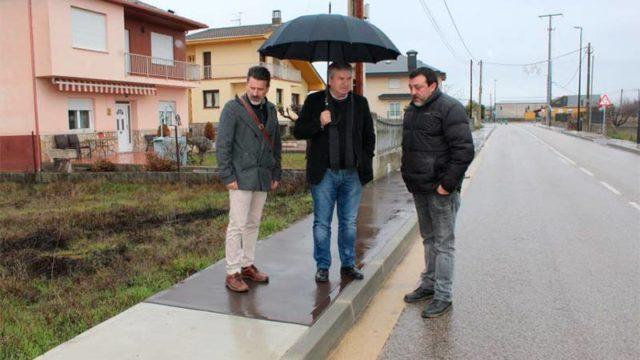 Finalizada la urbanización de las calles los Rosales y Santa María de Villadepalos