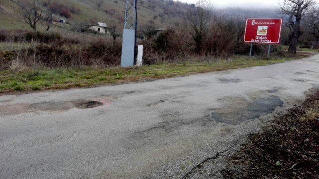 CB pide a Diputación el arreglo de la carretera de entrada a Villar  y Salas de los Barrios