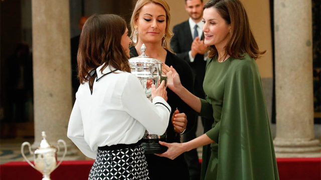 La Reina Letizia entrega a Lydia Valentín el Premio Nacional de Deporte 2016