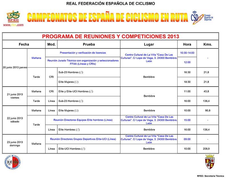 programa competiciones