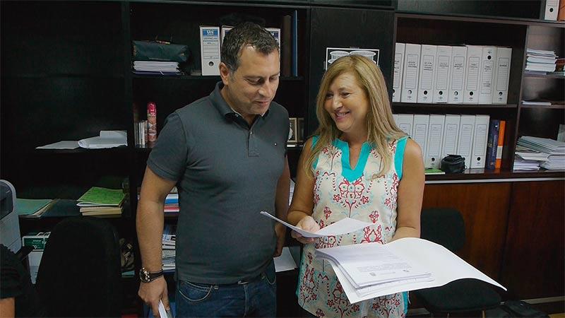 Teresa Magaz y Reiner Cortés