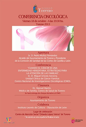 Conferencia oncología Toreno