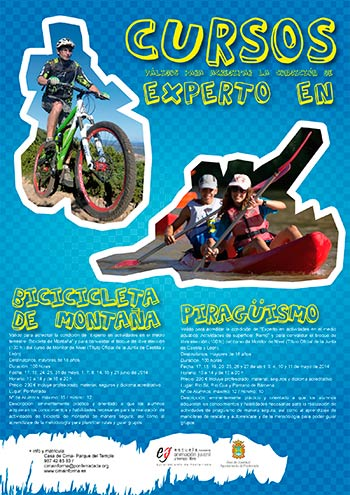 Cursos bici montaña y piragüismo