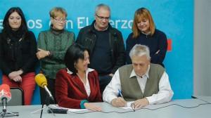 Conrado firma su aval a la candidatura de Ángela Marqués