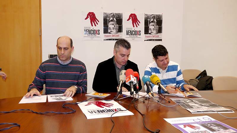 """Santiago Macías, Antonio Donís y Antonio Morán presentan el ciclo """"Memoria del pasado"""""""