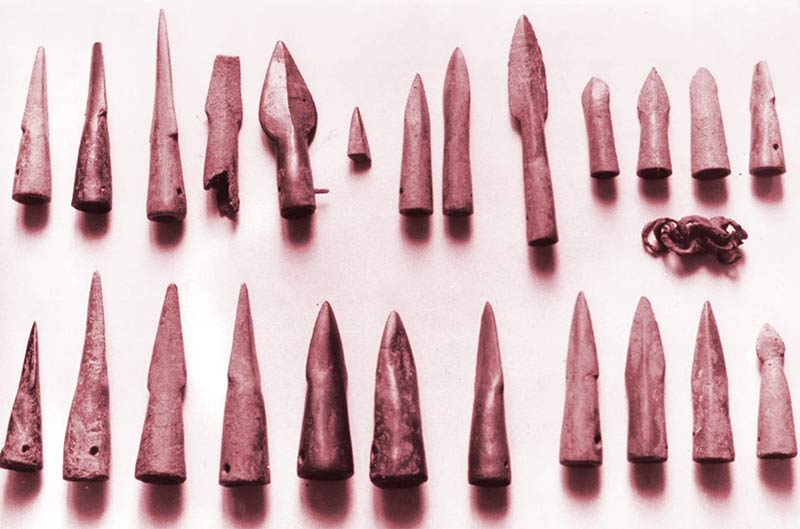 Puntas de flecha del Bronce Final en el Museo Alto Bierzo de Bembibre