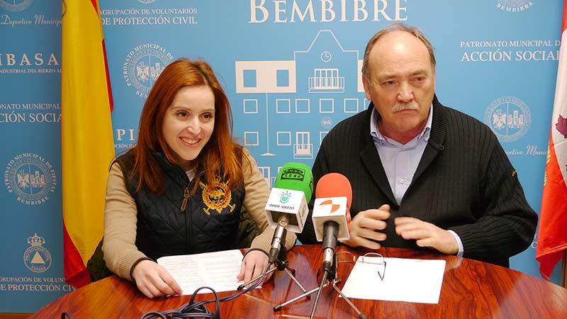 Laura Álvarez, Concejal de Cultura, y José Manuel Otero, Alcalde de Bembibre.