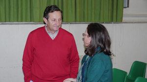 Luis Alonso Tiradoy la Directora del Colegio La Asunción de Ponferrada, María del Carmen González. Foto Bierzotv.
