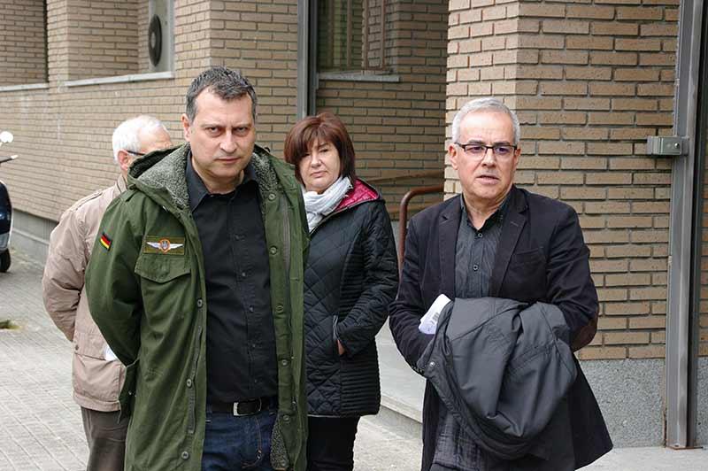 Reiner Cortés y Juan Elicio Fierro momentos después de presentar la denuncia contra el Alcalde, Samuel Folgueral. Foto Bierzotv.