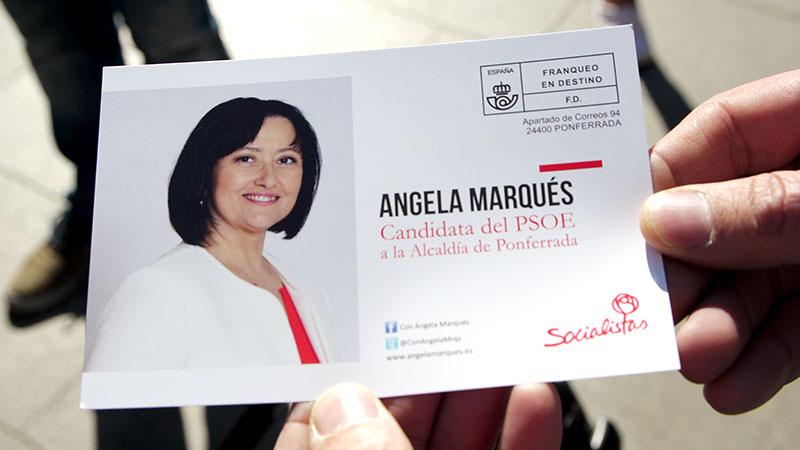 """Campaña del PSOE """"Nos une Ponferrada"""". Foto Bierzotv."""