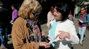 """Ángela Marqués presenta su campaña """"Nos une Ponferrada"""". Foto Bierzotv."""