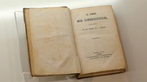 Ejemplar del Señor de Bembibre, edición Princeps de 1844. Foto Bierzotv.
