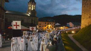 Desfile en la Noche Templaria de Ponferrada 2014. Foto Bierzotv.