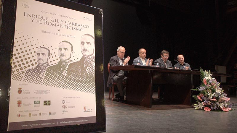 Inauguración del Congreso Internacional sobre Enrique Gil y Carrasco en Villafranca del Bierzo. Foto: Raúl C.
