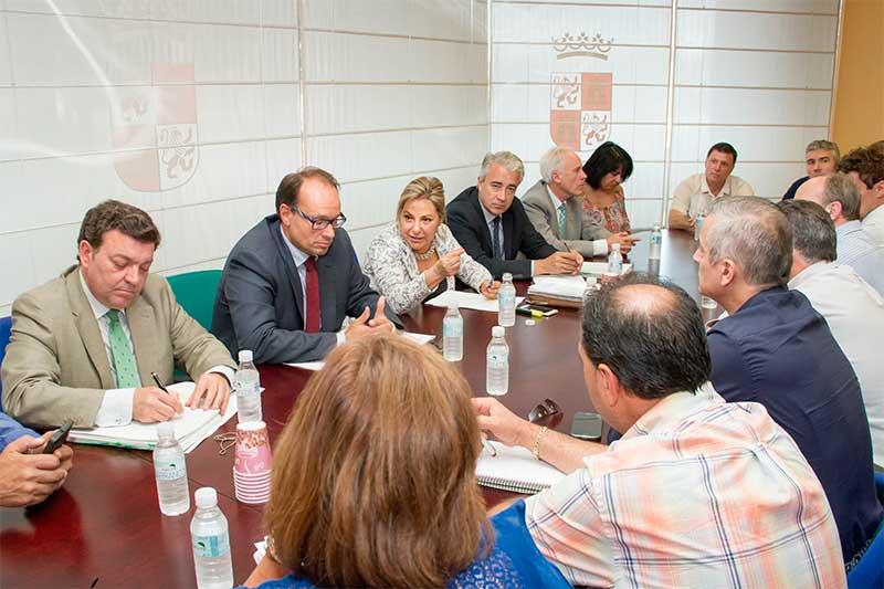 Reunión de la Vicepresidenta de la Junta y Consejera de Empleo, Rosa Valdeón, con los 31 municipios mineros de León y Palencia. Foto: Junta CyL.
