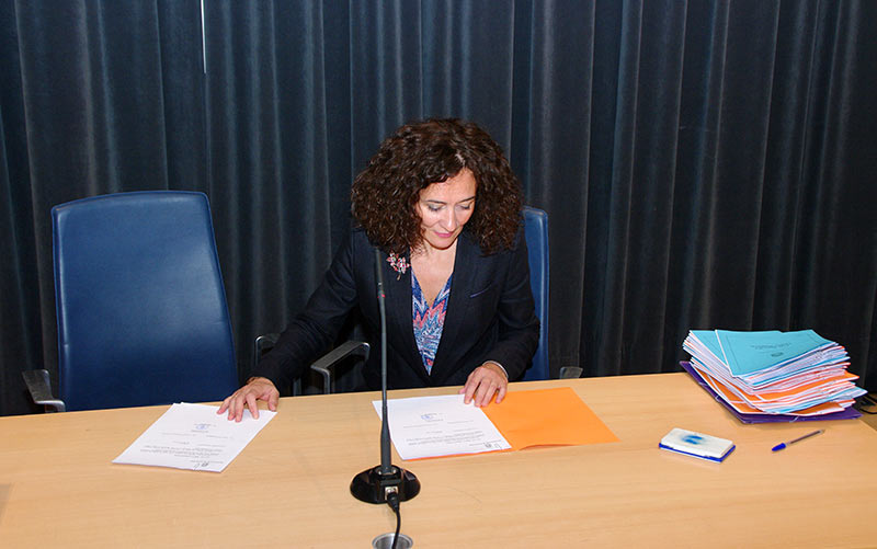 Gloria Fernández Merayo, alcaldesa de Ponferrada. Foto: Raúl C.