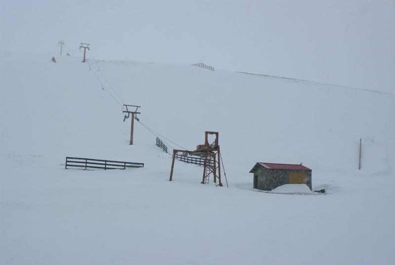 Estación de esquí en el Morredero. Foto: Raúl C.