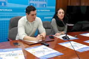 Roberto Mendo y Patricia Elorduy presentan la IX Gala de Gimnasia de Castilla y León. Foto: Raúl C.