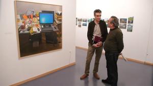 José Luis Tabernero y José Ramón Rodríguez en la inauguración de la exposición sobre los Premios Injuve 2014. Foto: Raúl C.
