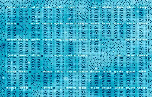 Fragmento de la conferencia There's Plenty of Room at the Bottom de Richard Feynman escrita mediante átomos de cloro. / TU Delft