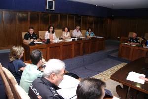 Reunión de la Junta Local de Seguridad para las Fiestas de la Encina. Foto: Raúl C.