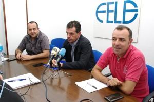 Javier Morán, Ursicino Sánchez y Omar Rodríguez. Foto: Raúl C.