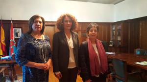 Pilar García, Gloria Fernández Merayo y María Antonia Gancedo.