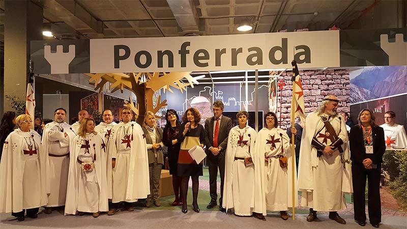 Inauguración del stand de Ponferrada en Fitur.