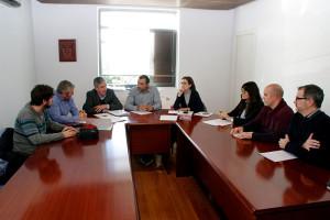 Reunión de los trabajadores de Ciuden con Graciliano Palomo, y María Aurora Flórez . Foto: Raúl C.