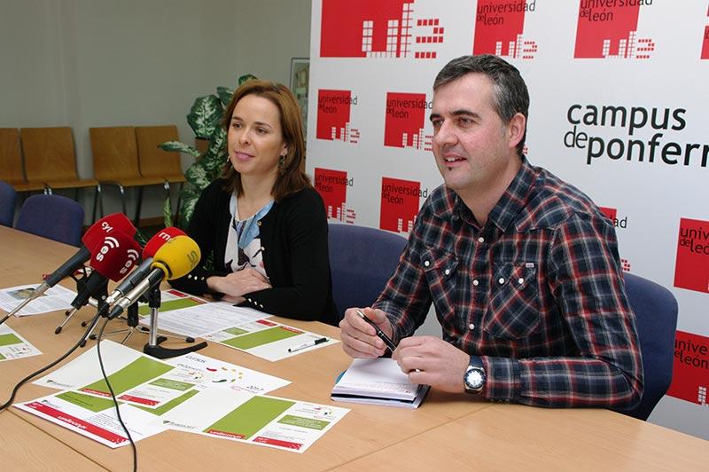 María Flor Taboada y Fernando Castedo presentan el curso práctico de Lidar Aéreo. Foto: Raúl C.