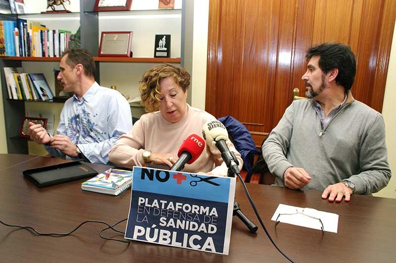 Plataforma en Defensa de la Sanidad Pública del Bierzo y Laciana. Foto: Raúl C.